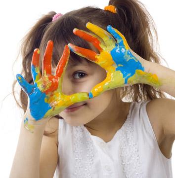 dziecko farby